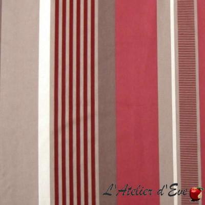 Othello Rouleau tissu ameublement grande largeur rayures flockées Thevenon Pièce ou demi-pièce