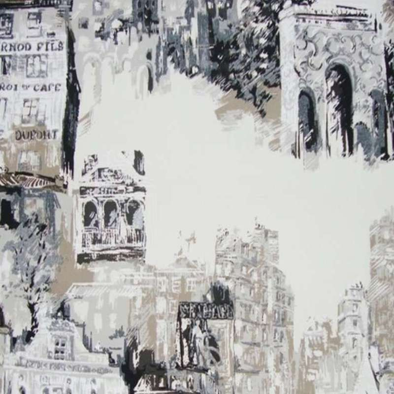 View of Montmartre fabric furniture bachette cotton wide Thévenon