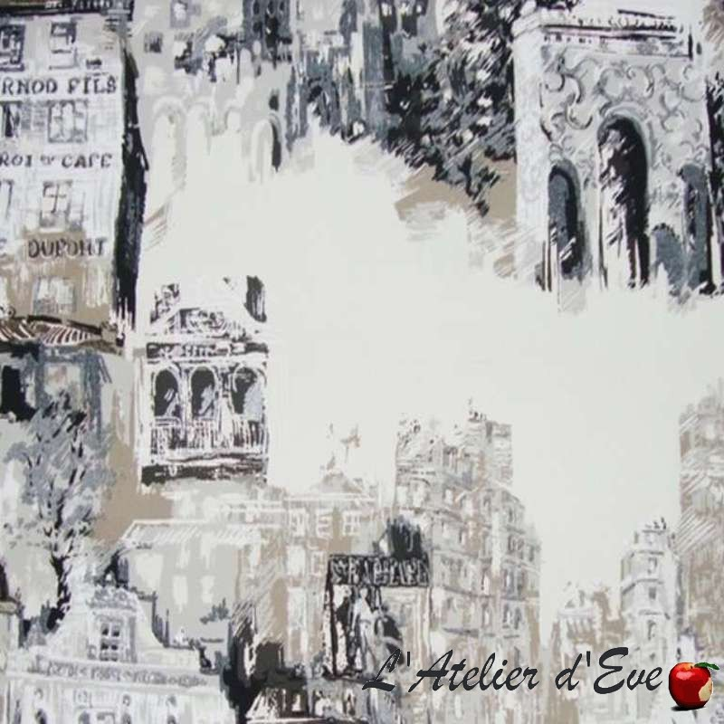 View of Montmartre Fabric upholstery cotton wide width Thevenon