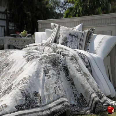 Vue de Montmartre jete de lit coton matelassé avec piquage Thevenon