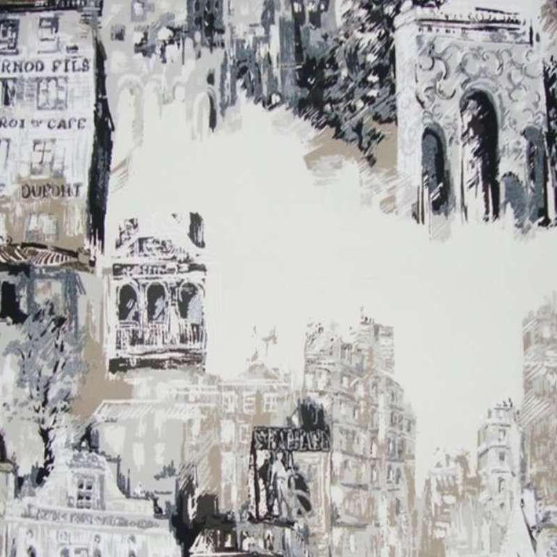 Vue de Montmartre Rouleau tissu bachette coton grande largeur Thevenon Pièce ou demi-pièce