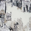 View of Montmartre Discount 30% Jouy Thevenon Canvas Roll Piece / Half-piece