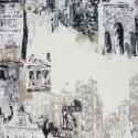 """""""Vue de Montmartre"""" Remise 30% Rouleau toile de Jouy Thevenon"""