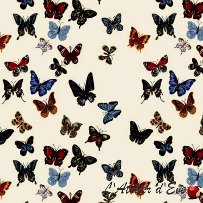 Flight of butterflies furnishing cotton Percale Nathalie Lété by Thévenon