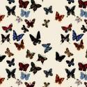 Vol de papillons Percale d'ameublement coton Nathalie Lété par Thevenon