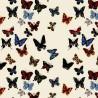 Vol de Papillons Rouleau Percale de coton Thevenon Pièce ou demi-pièce