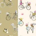 A bicyclette (2 coloris) jete de lit coton matelassé avec piquage Thevenon