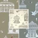 Bagatelle (3 colours) cotton fabric great width fancy birds Thévenon