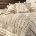 Bagatelle (3 coloris) jete de lit coton matelassé avec piquage Thevenon
