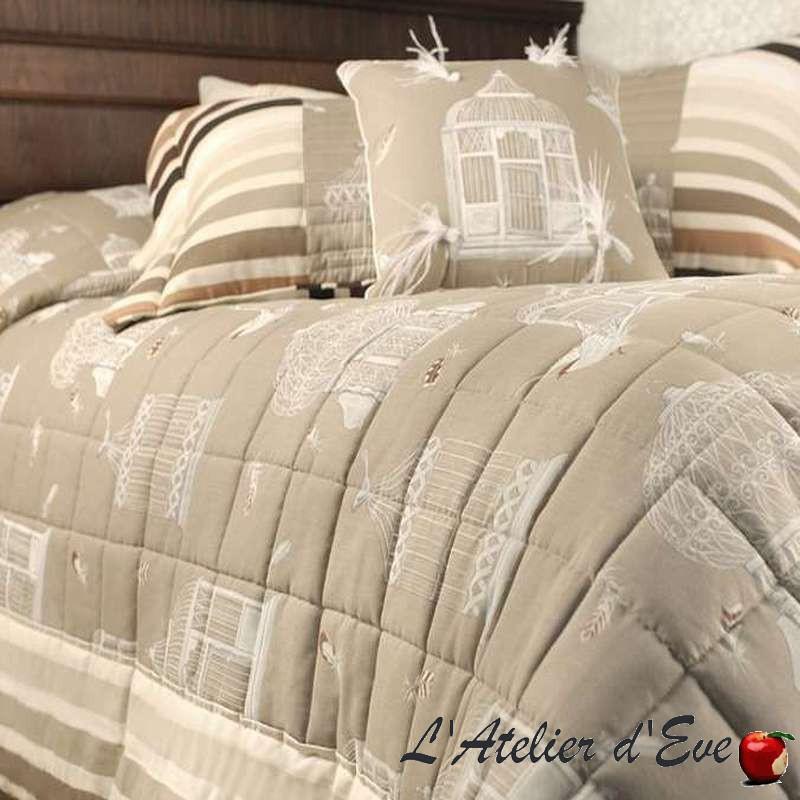 vente jet de lit plaid coussin taie tissu bagatelle. Black Bedroom Furniture Sets. Home Design Ideas