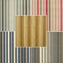 Symphonie (9 coloris) Tissu ameublement tapissier à rayures coton grande largeur Thevenon