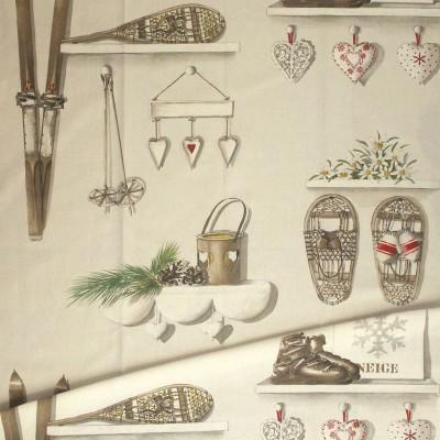 Merry Bell coton Rideau oeillets prêt à poser style montagne Thevenon Le rideau