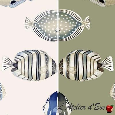 Copacabana (2 colours) furniture upholsterer bachette cotton fabric great width Thévenon