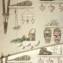 Merry Bell coton Rouleau tissu ameublement grande largeur style montagne Thevenon Pièce/demi-pièce
