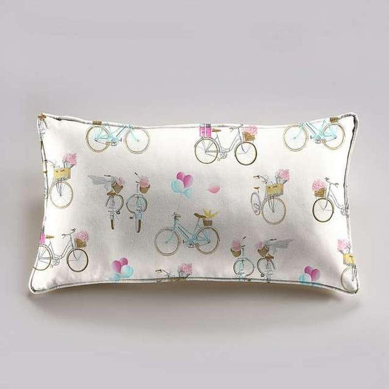 A Bicyclette Coussin 60x30cm Tissu coton Thevenon