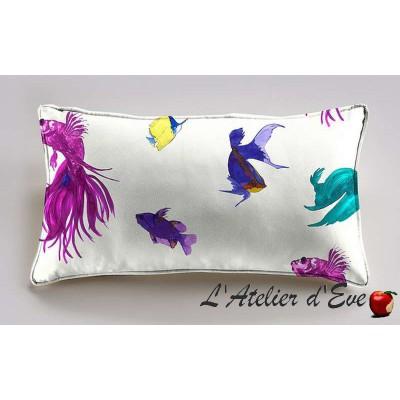 Glowing Fish cushion 60x30cm fabric cotton Thévenon
