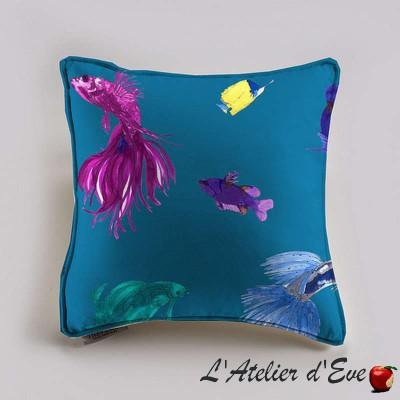 Glowing Fish Coussin et taie (2 dimensions) Tissu coton Thevenon