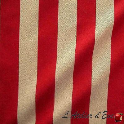 Transat Tissu ameublement grande largeur pour siège rayure bicolore Thevenon