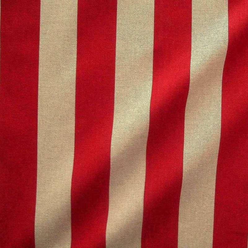 Transat (4 coloris) Tissu ameublement coton grande largeur rayure bicolore Thevenon