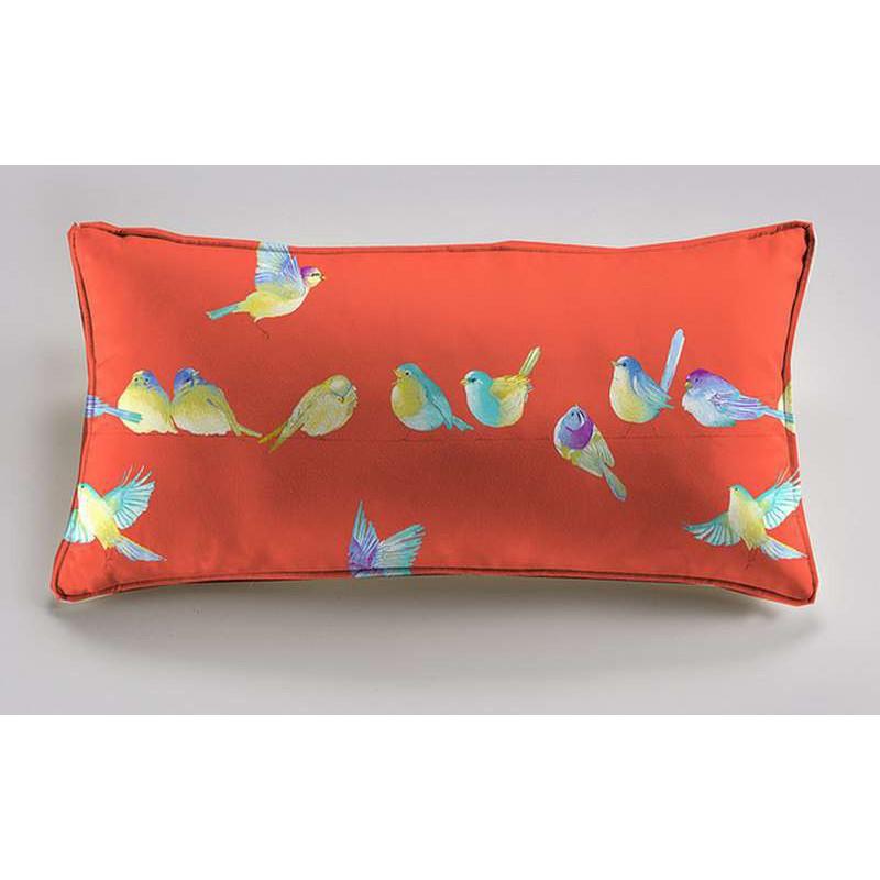 Happy birds cushion 60x30cm fabric cotton Thévenon