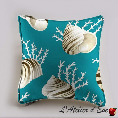 OK coral cushion/pillow case (2 dimensions) fabric cotton Thévenon