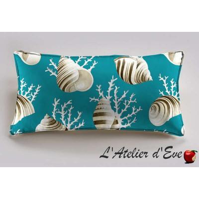 OK coral cushion 60x30cm Bachette cotton Thévenon
