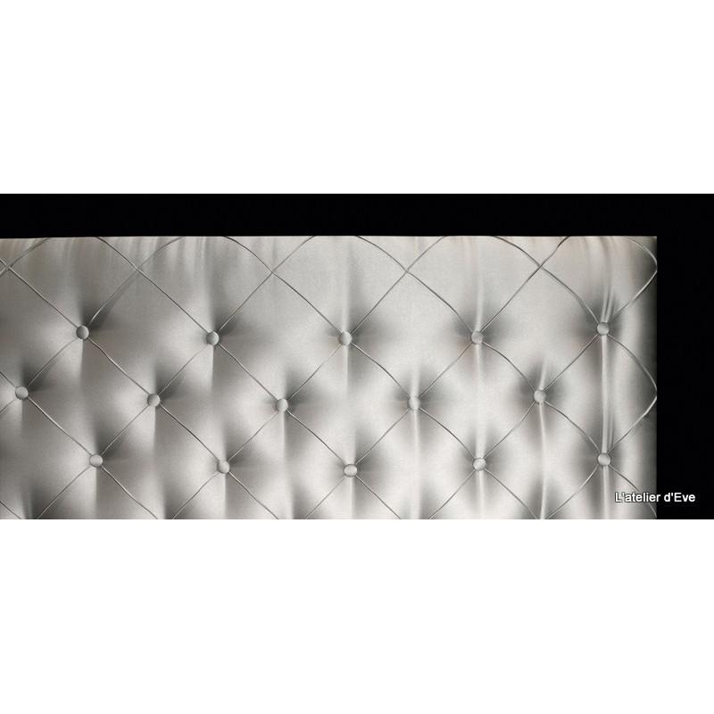 Princesse 4 tailles tete de lit capitonnee tissu faubourg thevenon - Tissus matelasse pour tete de lit ...