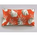 OK coral salmon bottom cushion 60x30cm Bachette cotton Thévenon