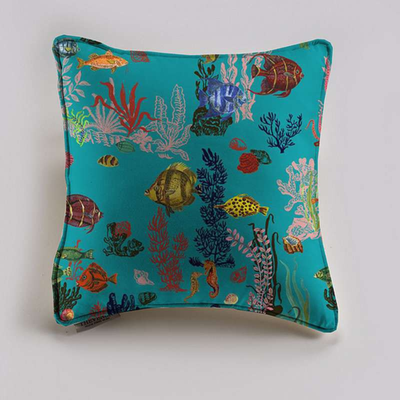 Under the sea cushion and pillow (2 dimensions) cotton fabric Thévenon