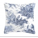 History of water cushion/pillow case (2 dimensions) fabric cotton Thévenon