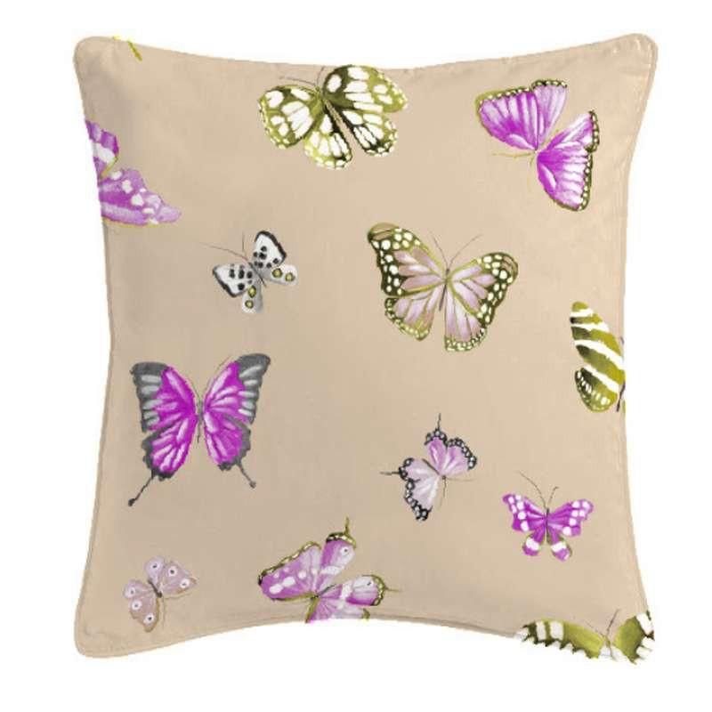Olivia Coussin/taieBâchette coton papillons Thevenon