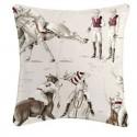 Polo cushion/pillow case (2 dimensions) fabric cotton Thévenon