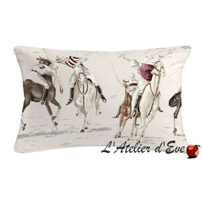 Polo cushion 60x30cm fabric cotton Thévenon