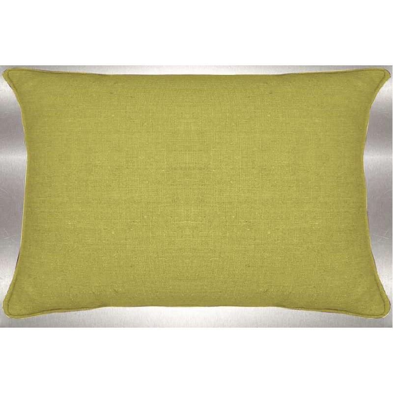 Lin lavé toile de lin anis Coussin 60x30cm Tissu coton Thevenon