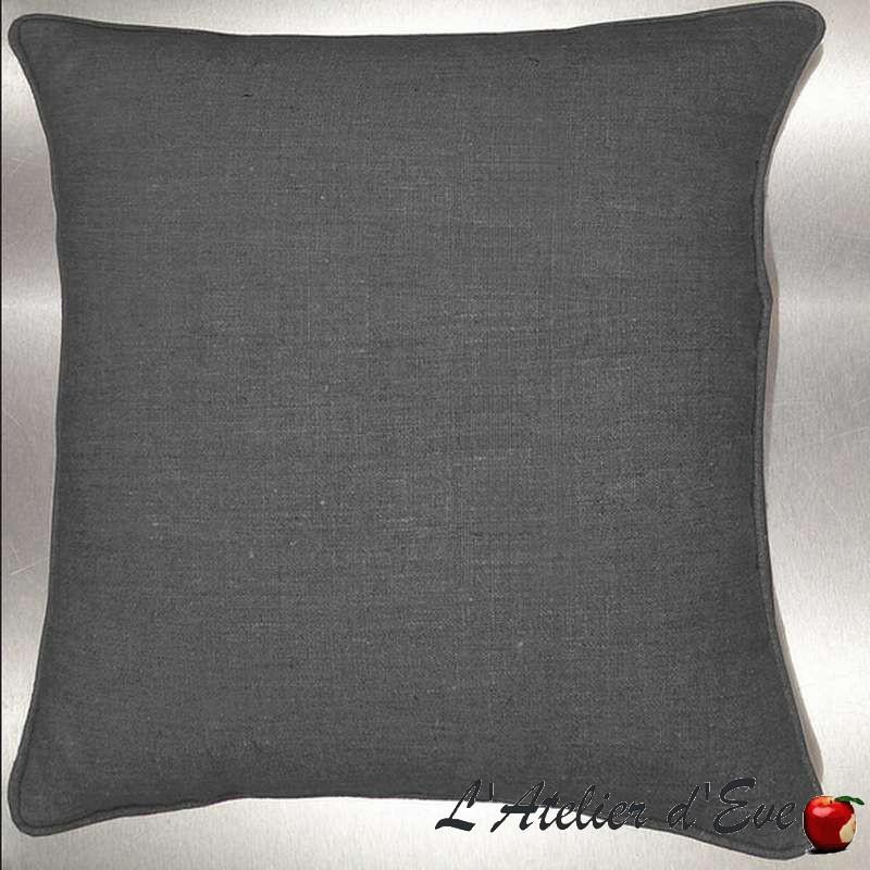 Washed linen cushion/pillow case (2 dimensions) fabric cotton Thévenon