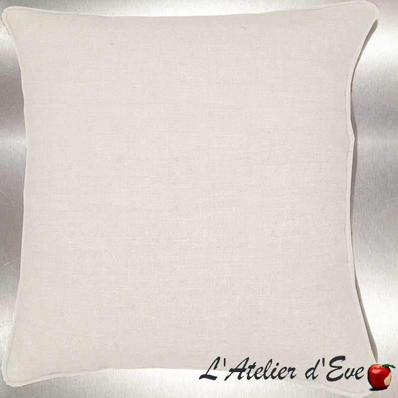 Lin lavé blanc cassé Coussin/taie toile de lin Tissu coton Thevenon