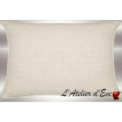 Lin lavé blanc cassé Coussin 60x30cm Tissu coton Thevenon
