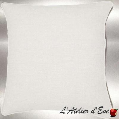 Lin lavé blanc Coussin/taie (2 dimensions) Tissu coton Thevenon
