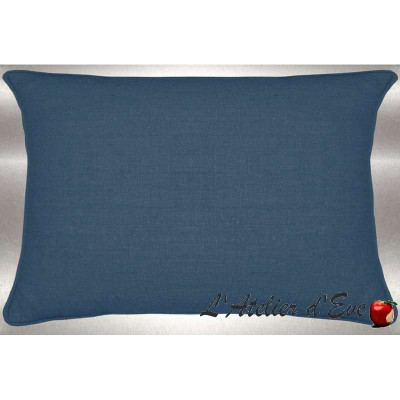 Washed linen cushion 60x30cm fabric cotton Thévenon