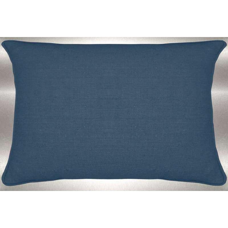 Lin lavé toile de lin bleu canard Coussin 60x30cm Tissu coton Thevenon