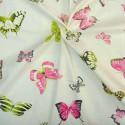 Olivia Rideau à oeillets prêt à poser coton imprimée papillons Thevenon Le Rideau
