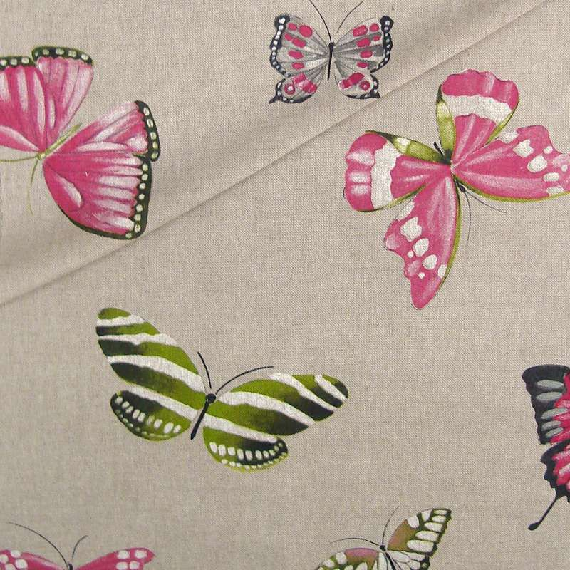 Olivia Rouleau fabric upholstery and seat butterflies Thévenon room/half room