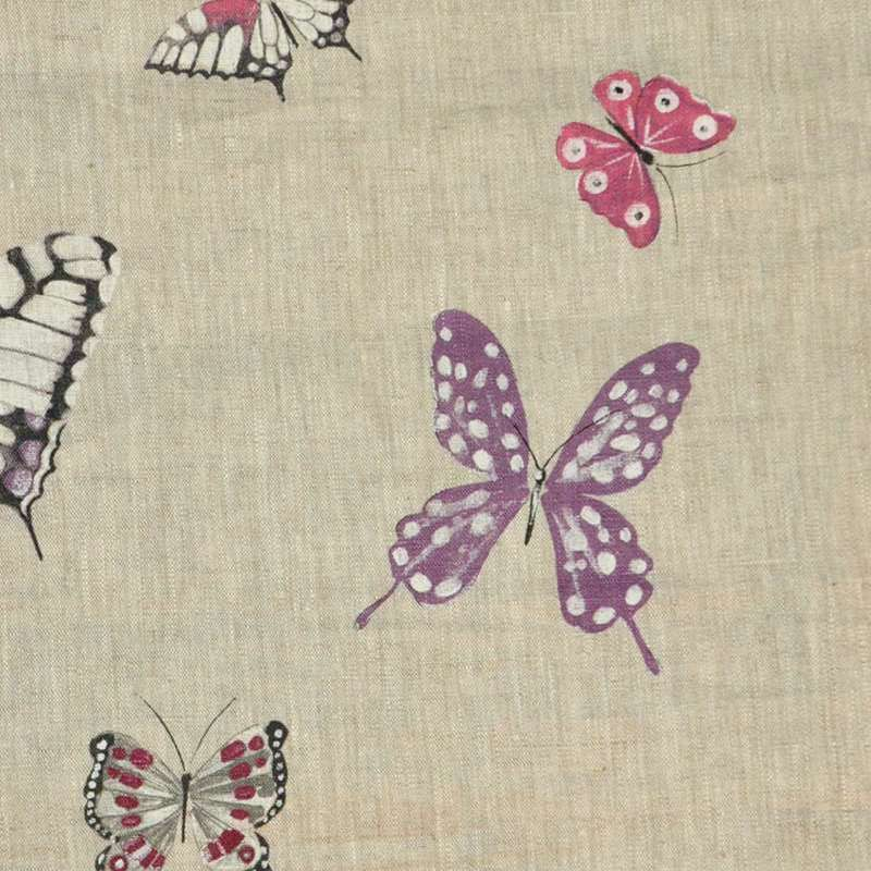 Olivia Rideau to eyelets ready to ask linen pattern butterflies Thévenon the curtain
