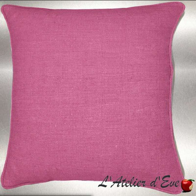 Lin lavé Framboise Coussin/taie (2 dimensions) Tissu coton Thevenon