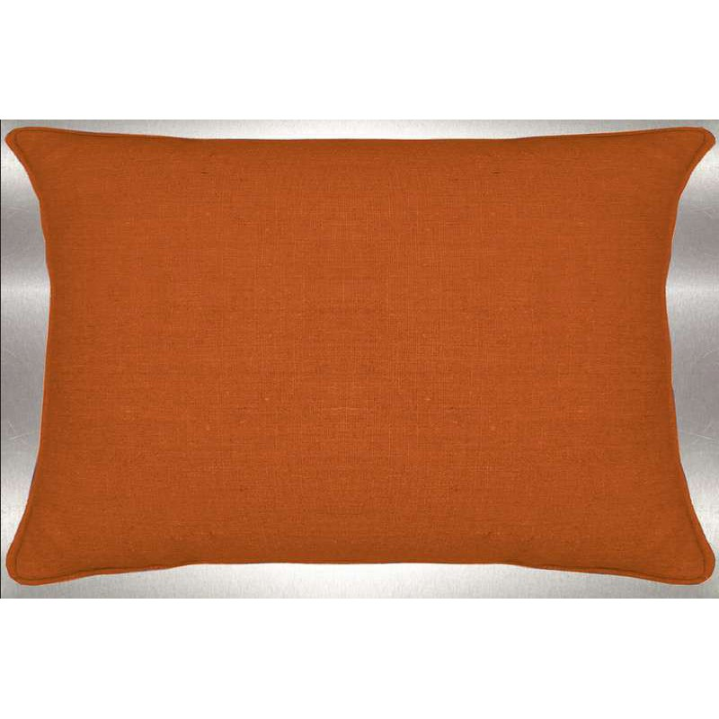 Lin lavé mandarine Coussin 60x30cm Tissu coton Thevenon