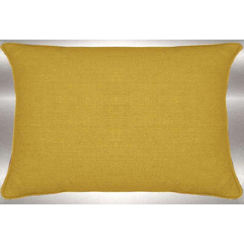 Lin lavé moutarde Coussin 60x30cm Tissu coton Thevenon