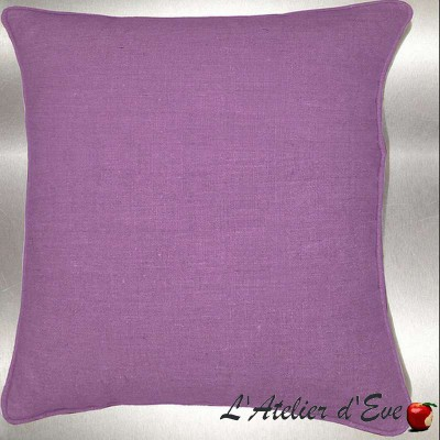 Lin lavé parme Coussin/taie (2 dimensions) Tissu coton Thevenon