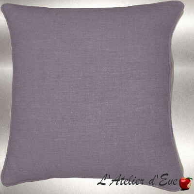 Pearl Grey washed linen cushion/pillow case (2 dimensions) fabric cotton Thévenon