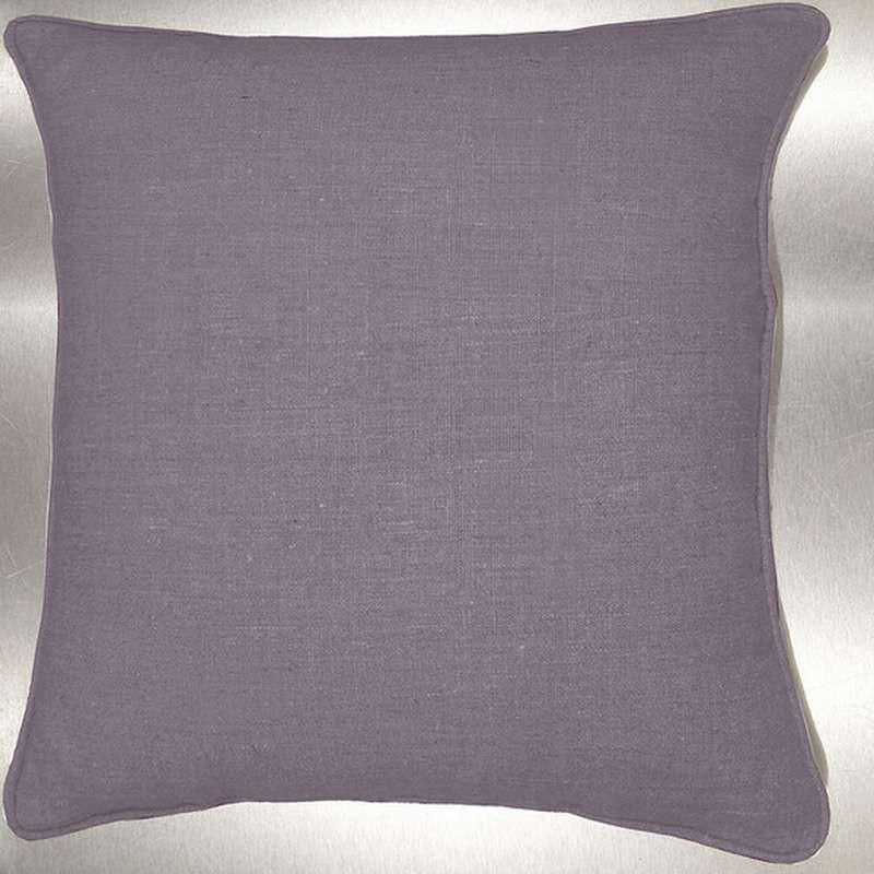 Lin lavé gris perle Coussin/taie Tissu coton Thevenon