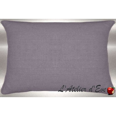 Pearl Grey washed linen cushion 60x30cm fabric cotton Thévenon